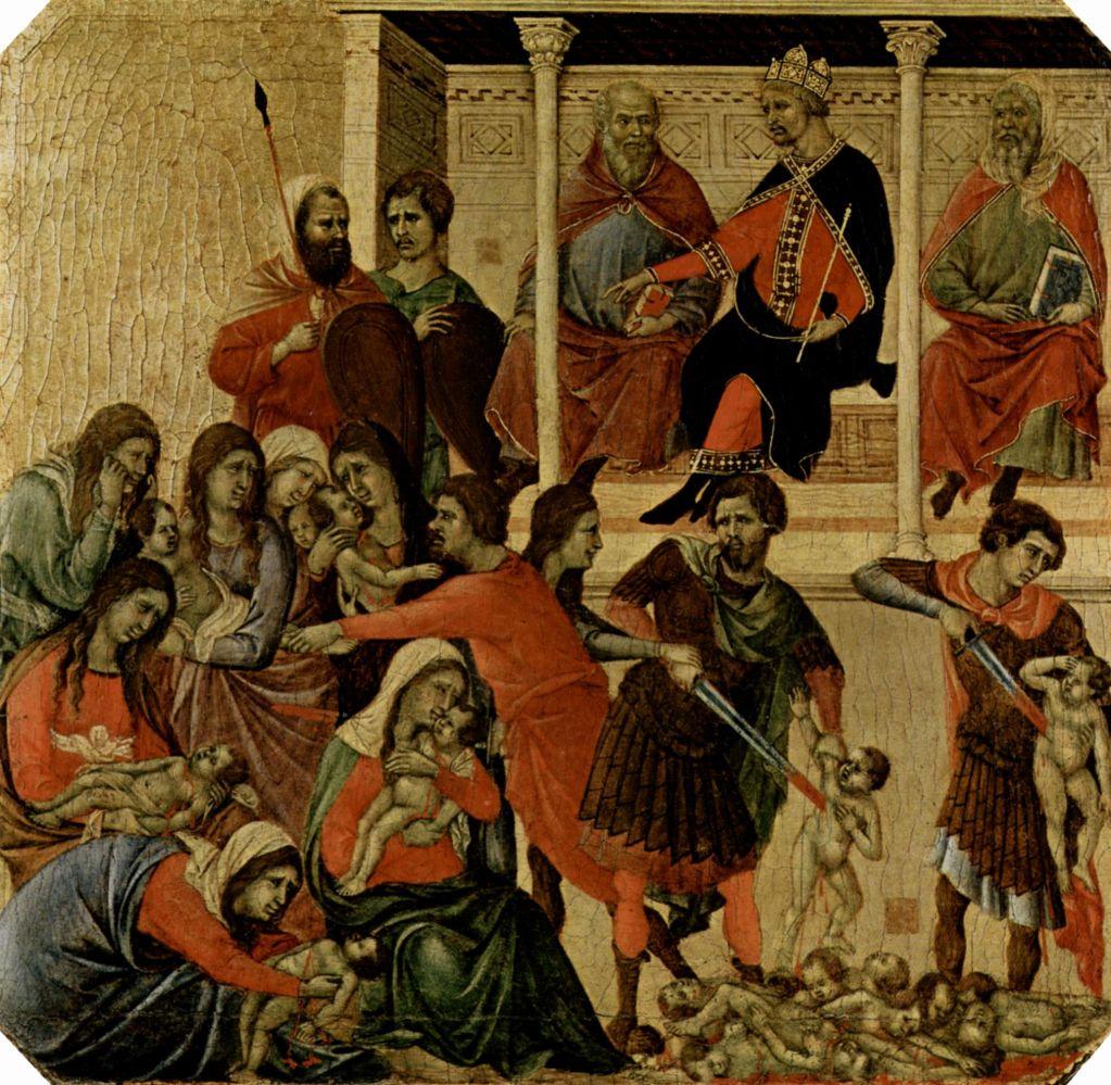 Дуччо. Маэста (фрагмент), 1308-11.